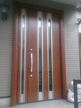 堺市 玄関ドアリフォーム施工後